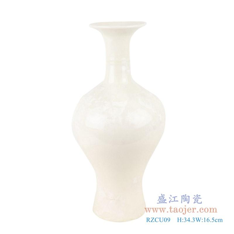 RZCU09 结晶釉纯白色观音小花瓶