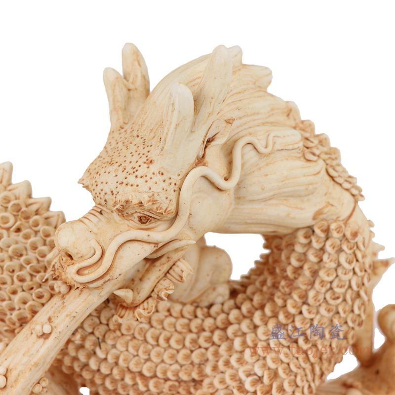 RZEI11 雕塑海水龙瓷器摆件仿古做旧瓷器放大