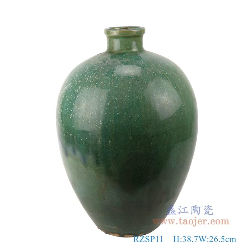 RZSP11仿古窑变绿釉冬瓜瓶罐子
