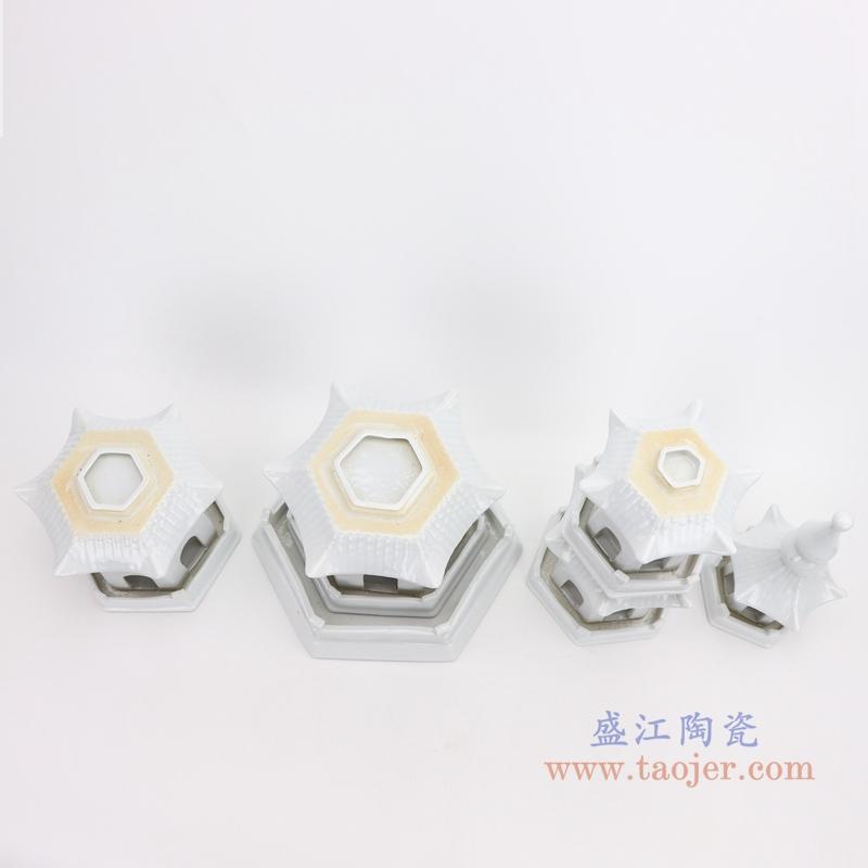 RZPi42-midd 纯白色六层宝塔
