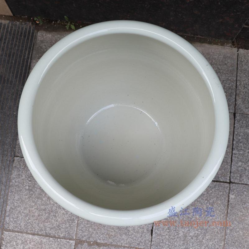 RZSD06-A 青花花鸟大缸鱼缸水缸 顶部