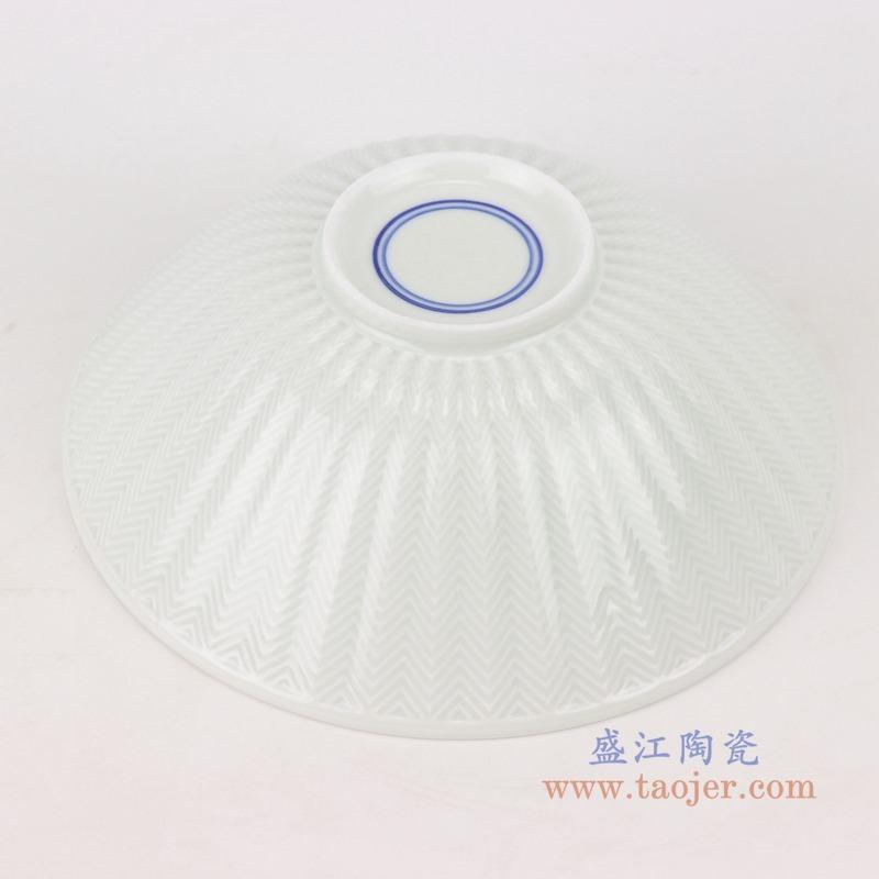 RYWG30 青花冰梅瓜楞纹敞口碗底部