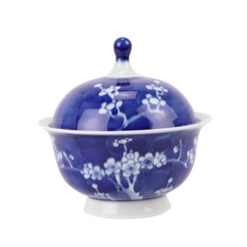 RYWG29 青花冰梅饭鼓饭盅炖盅盖碗汤盅