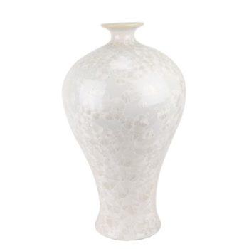 RYYX08  结晶釉纯白色白底梅瓶