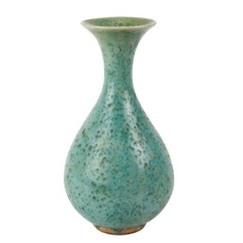 RZSP18 仿古窑变绿釉小玉壶春瓶
