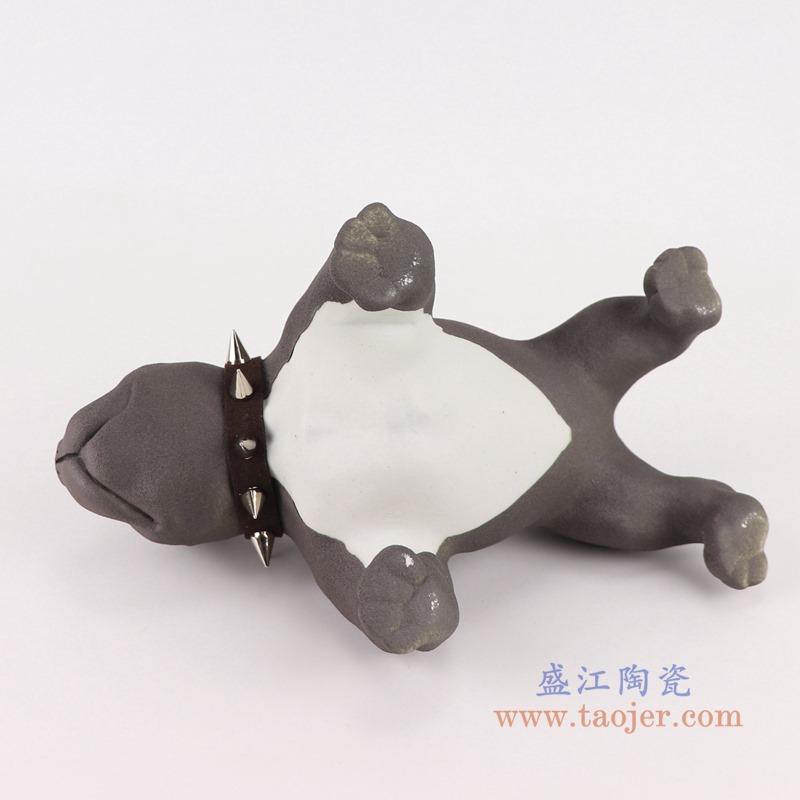 RZSH11黑色哈巴狗小狗雕刻雕塑底部