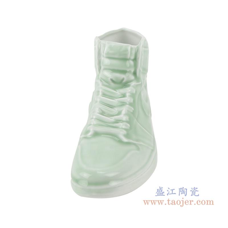 RZQU10仿耐克Air Jordan篮球鞋陶瓷青釉正面