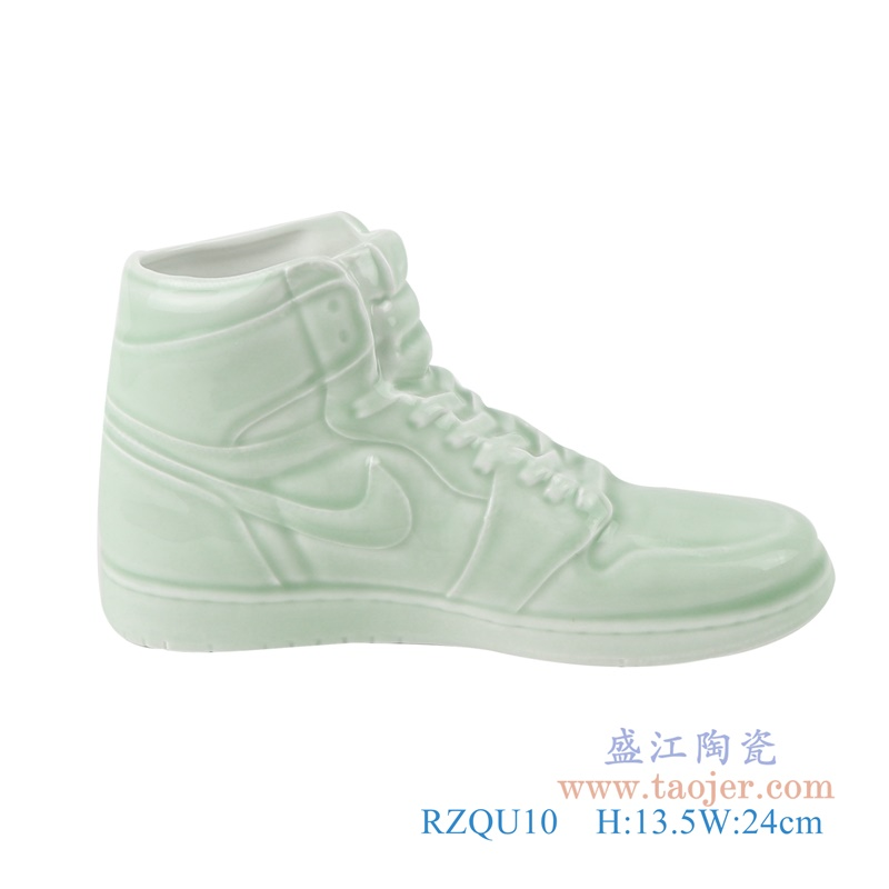 RZQU10仿耐克Air Jordan篮球鞋陶瓷青釉侧面