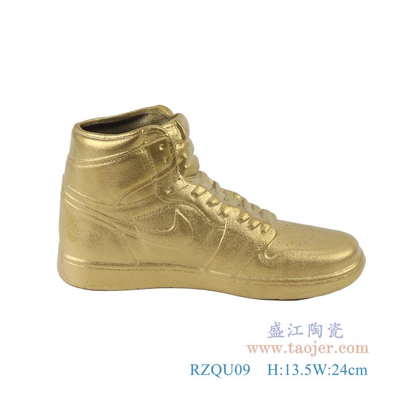 RZQU09 仿耐克Air Jordan篮球鞋陶瓷金色侧面