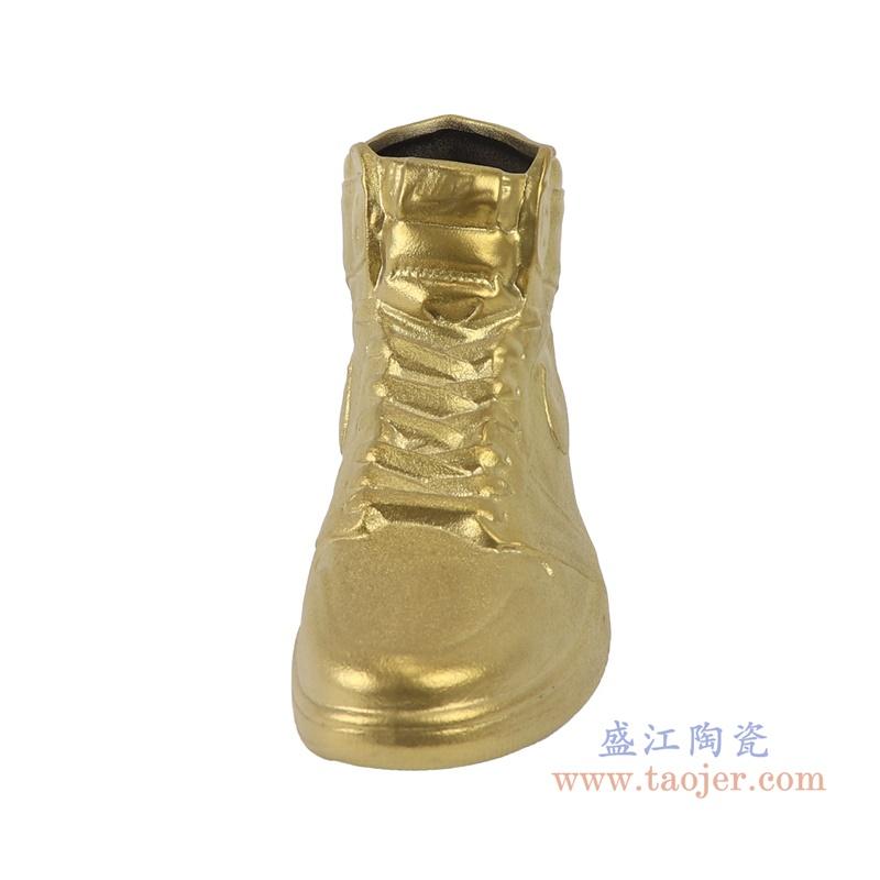 RZQU09 仿耐克Air Jordan篮球鞋陶瓷金色正面