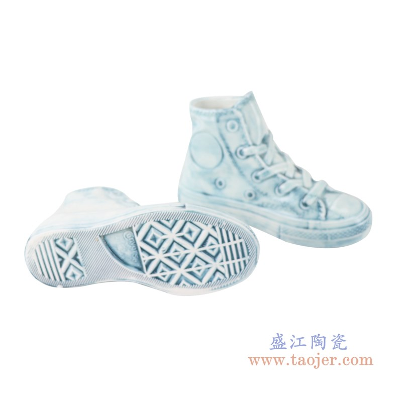 RZQU06  颜色釉雕刻牛仔纹直筒小号鞋子底部
