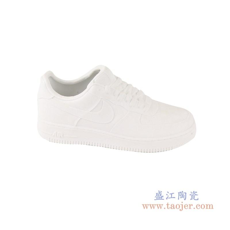 RZQU05 颜色釉雕刻亚光纯白耐克鞋子侧面