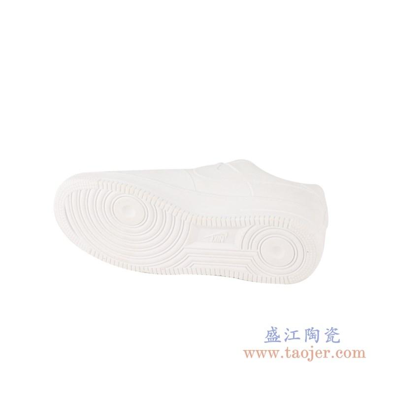 RZQU05 颜色釉雕刻亚光纯白耐克鞋子底部
