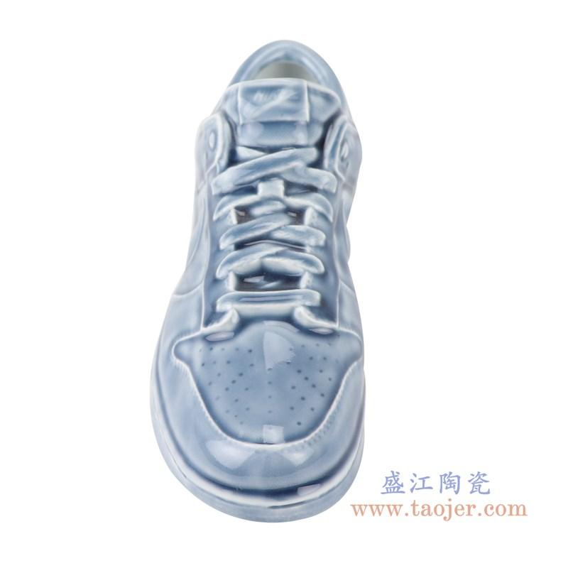 RZQU03 颜色釉青釉雕刻帆布纹耐克鞋子正面