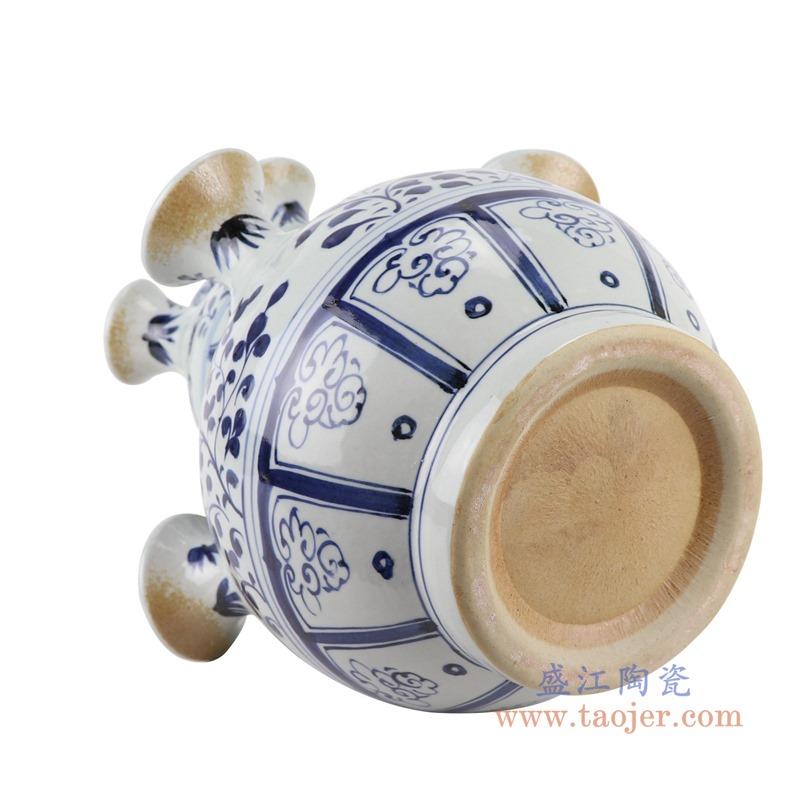 RZKR14 青花多口葫芦瓶异形花瓶底部