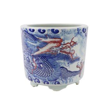 RZNX06青花龙纹瓷器香炉寺庙大殿摆件香炉