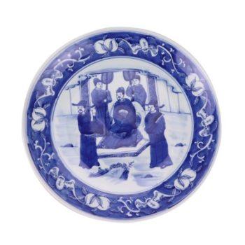 RZNX04-B青花瓷水浅蓝瓷仿古百官
