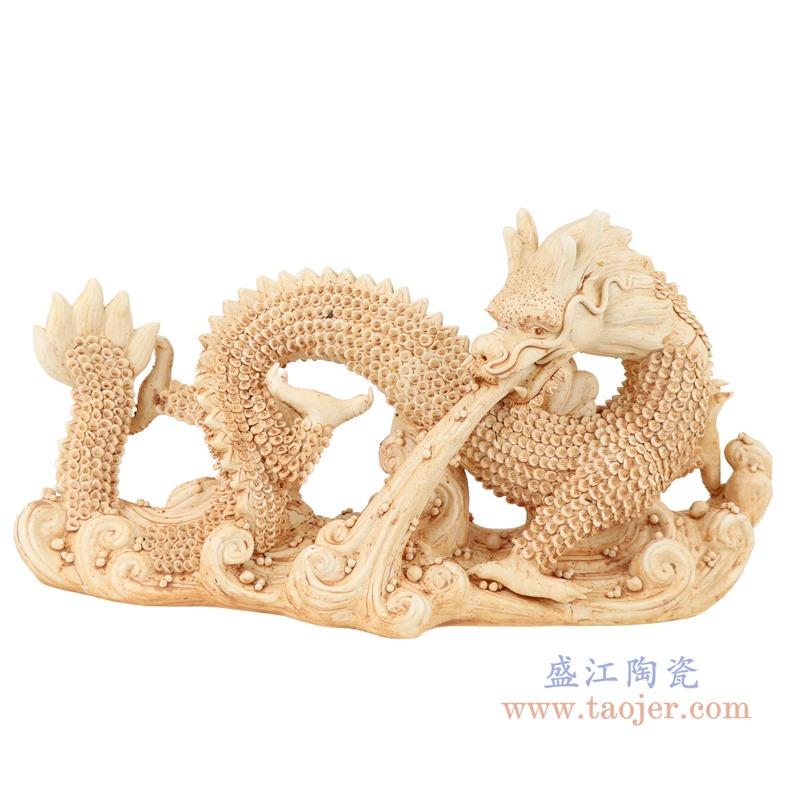 RZEI11 雕塑海水龙瓷器摆件仿古做旧瓷器正面