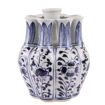 RZKR12青花多口玉壶春瓶异形花瓶