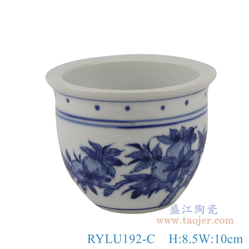 RYLU192-C青花仙桃小花盆盆栽