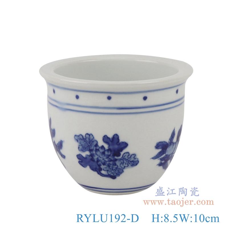RYLU192-D青花花纹小花盆盆栽