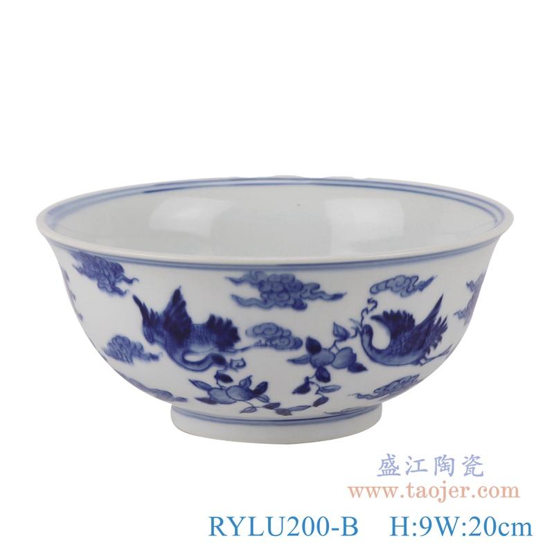 RYLU200-A青花狮子纹大碗