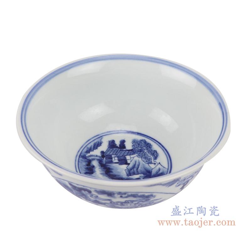 RYLU200-C青花牡丹纹大碗顶部