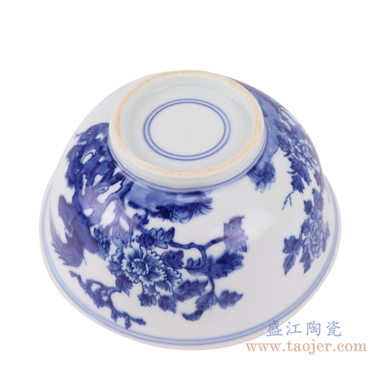 RYLU200-D青花花鸟纹大碗底部