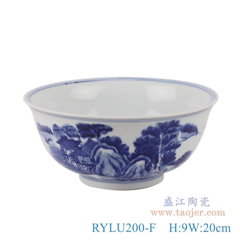 RYLU200-F青花山水大碗正面