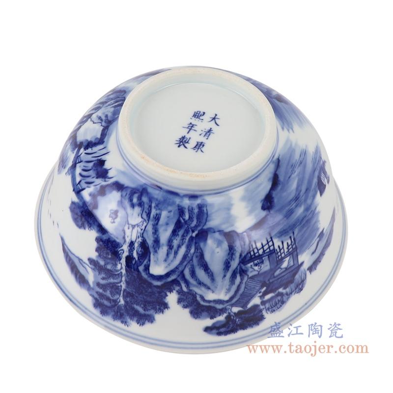 RYLU200-F青花山水大碗底部
