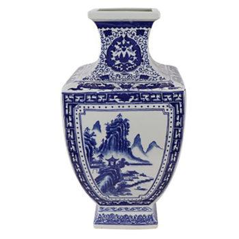 RYJF72青花山水四方花瓶