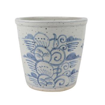 RZSX03青花写意花卉花盆小缸