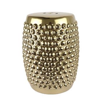 RZLB02-F镀金铆钉鼓钉气泡凳子凉墩