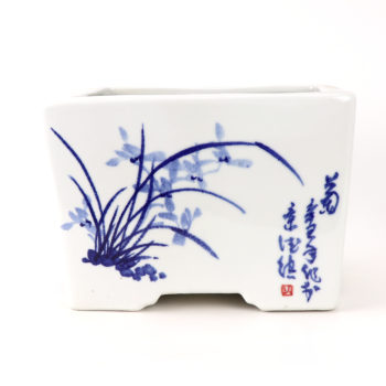 RZTE04青花写意梅兰竹菊四方花盆