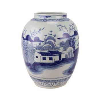 RZSX11仿古青花山水罐子花瓶