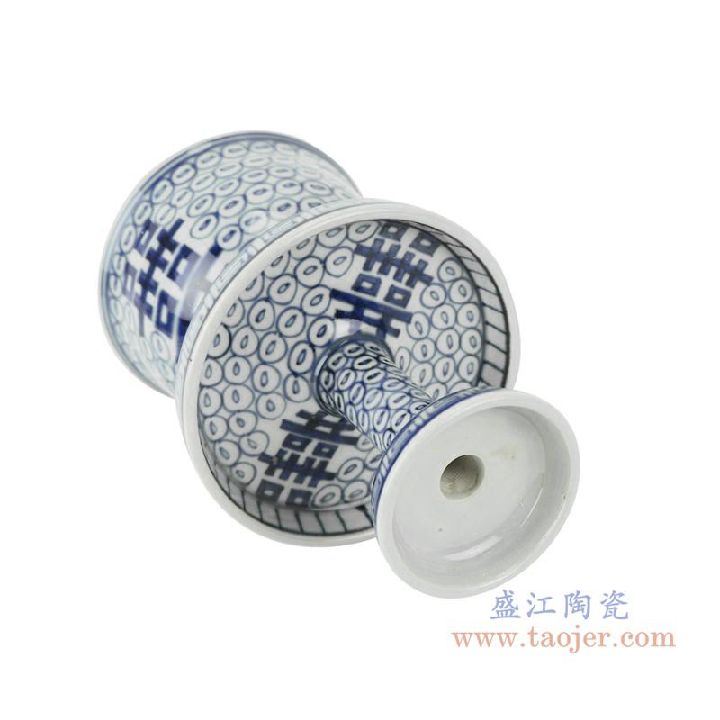 RZHC02青花缠枝喜字纹烛台底部