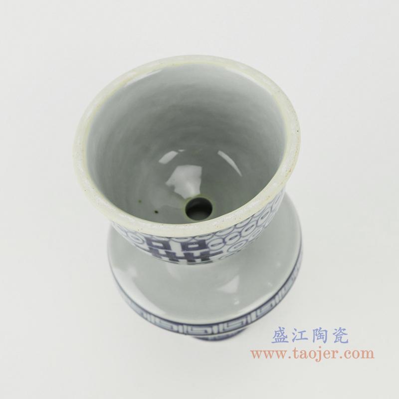 RZHC02青花缠枝喜字纹烛台顶部
