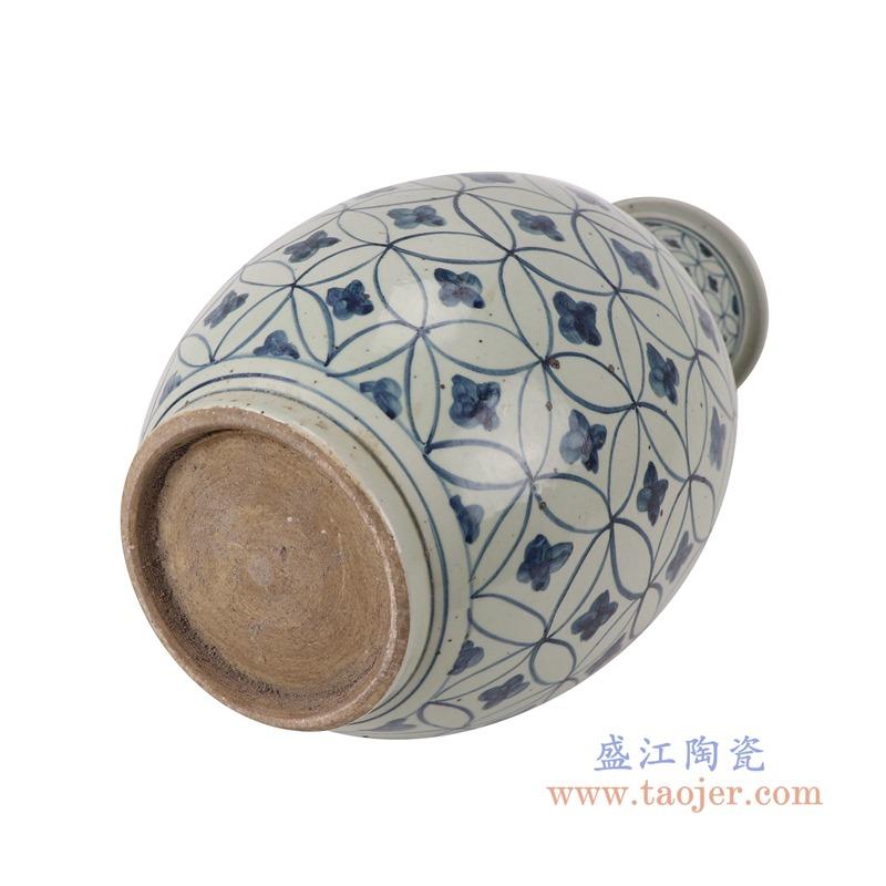 RZSX04-B青花铜钱纹棒子花瓶底部