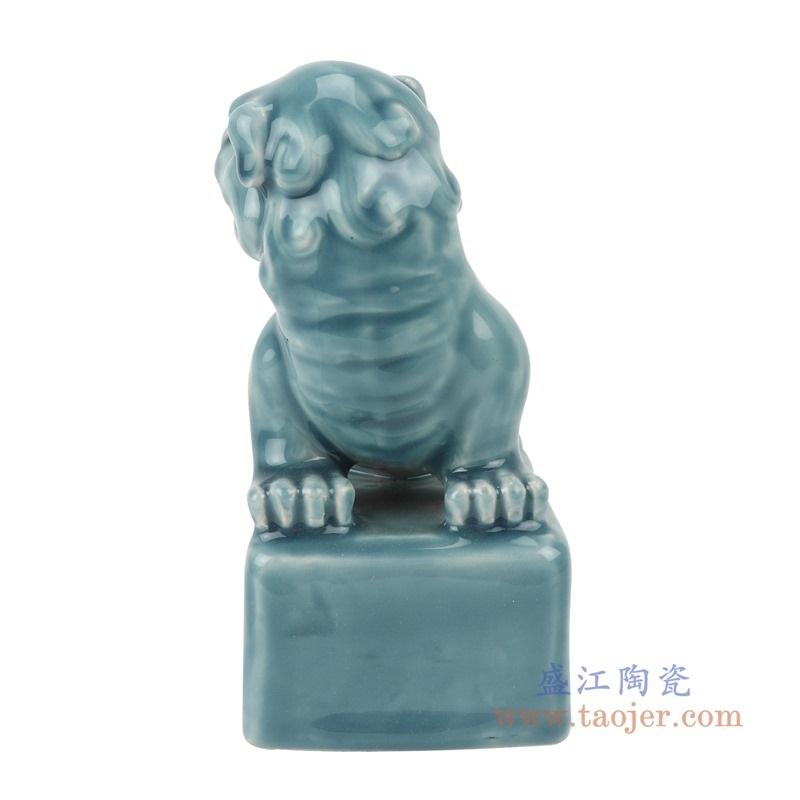 RYXZ13-B颜色釉影青雕刻狮子狗