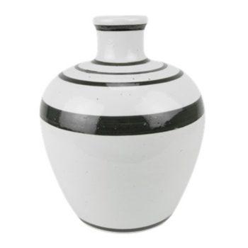 RZPI65白色黑线圈纹花瓶