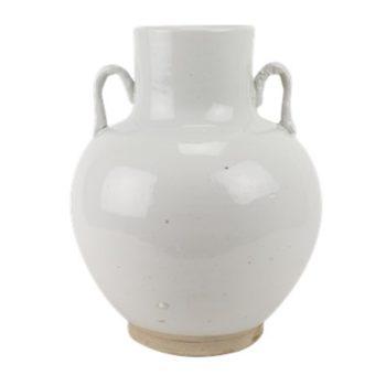 RZPI66白色双耳福桶花瓶罐子