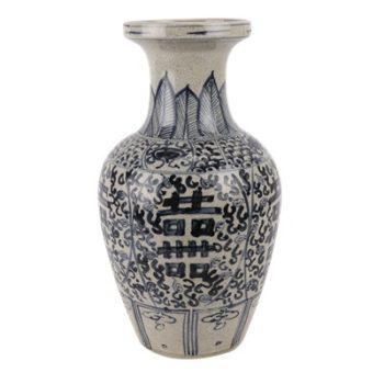 RZTL02青花开片喜字纹花瓶