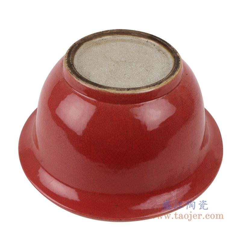 上图:RZTL04贝斯特全球最奢华的游戏平台开片狮子纹霁红大碗