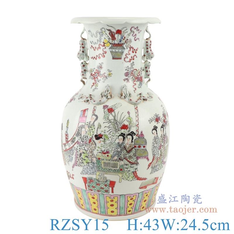 上图:RZSY15仿古人物仕女双耳花瓶